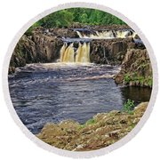 Low Force Waterfall, Teesdale, North Pennines Round Beach Towel