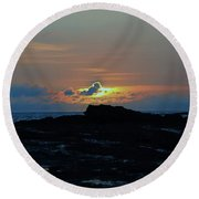 Low Profile Sunset Round Beach Towel by Craig Wood
