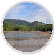 Low Tide In Acadia Round Beach Towel by Living Color Photography Lorraine Lynch