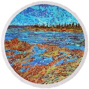 Low Tide Oak Bay Nb Round Beach Towel