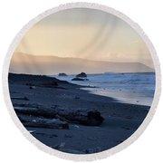 Low Tide Round Beach Towel