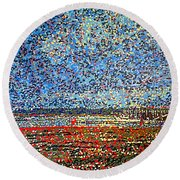 Low Tide - St. Andrews Wharf Round Beach Towel