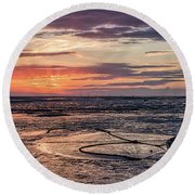 Low Tide, Thurstaston Round Beach Towel