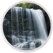 Lower Bearwallow Falls Round Beach Towel