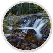 Lower Copeland Falls Round Beach Towel