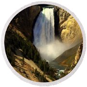 Lower Falls 2 Round Beach Towel