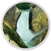 Lower Falls No Border Or Caption Round Beach Towel