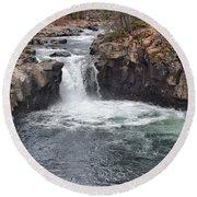 Lower Mccloud Falls Round Beach Towel