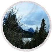 Lower Two Med Lake Through The Trees Round Beach Towel