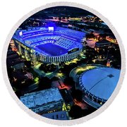 Lsu Tiger Stadium Supports Law Enforcement Round Beach Towel
