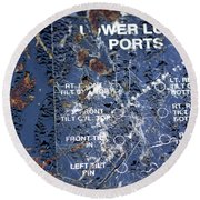 Lube Port Round Beach Towel