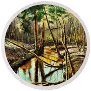 Lubianka-1- River Round Beach Towel