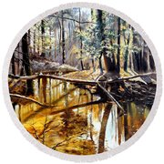 Lubianka-2-river Round Beach Towel