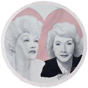Lucille And Vivian Round Beach Towel