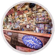 Luckenbach Bar Round Beach Towel