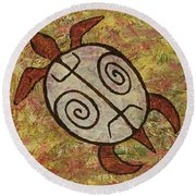 Lucky Honu Round Beach Towel