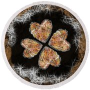 Lucky In Love Round Beach Towel