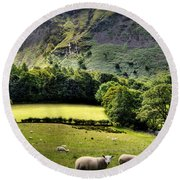 Lucky Sheep Round Beach Towel