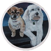 Lucy And Colby Round Beach Towel