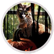 Lucy Boo Round Beach Towel