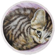 Flying Lamb Productions       Lucy Girl Round Beach Towel