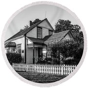 Round Beach Towel featuring the photograph Lucy Maud Montgomery Homesite by Chris Bordeleau