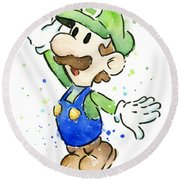 Luigi Watercolor Round Beach Towel
