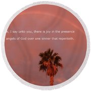 Luke 15 Round Beach Towel