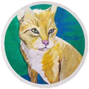 Lulu Date With Paint Nov 20th Round Beach Towel