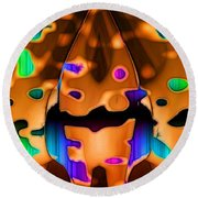 Round Beach Towel featuring the digital art Luminence by Ron Bissett