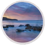 Luminescent Sunrise Seascape Round Beach Towel