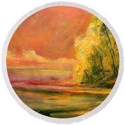 Luminous Sunset 2-16-06 Julianne Felton Round Beach Towel