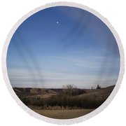 Lumsden Moon Rising Round Beach Towel