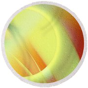 Luna Creciente Round Beach Towel