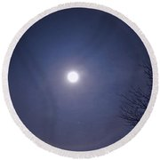 Lunar Corona Round Beach Towel