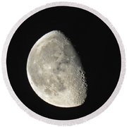 Lunar Delight Round Beach Towel