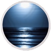 Lunar Dreams Round Beach Towel by DigiArt Diaries by Vicky B Fuller