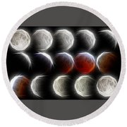 Lunar Eclipse Progression Round Beach Towel