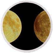 Lunar Eclipse Progression Round Beach Towel