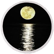 Lunar Lane Round Beach Towel