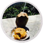 Lunch At El Yunque Round Beach Towel by The Art of Alice Terrill