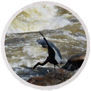 Lunch In The James River 6 Round Beach Towel