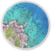 Round Beach Towel featuring the photograph Luncheon Bay, Hook Island by Keiran Lusk