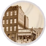 Round Beach Towel featuring the photograph Lunchroom  by Cole Thompson