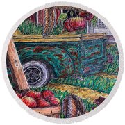 Lunchtime Round Beach Towel