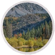 Lundy Canyon Round Beach Towel