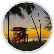 Luquillo Sunset  Round Beach Towel