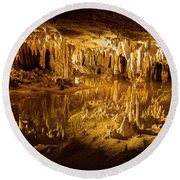 Luray Caverns Round Beach Towel