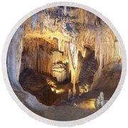 Luray Caverns Round Beach Towel by Richard Bryce and Family
