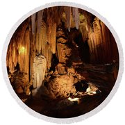Luray Dark Caverns Round Beach Towel by Paul Ward